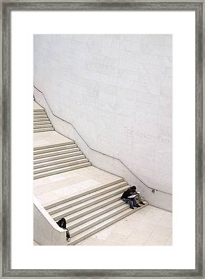 Stepping Down Framed Print by Jez C Self
