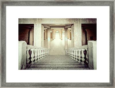Stepping Down To Hallway Framed Print by Svetlana Sewell