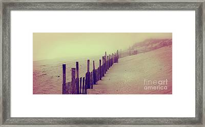 Stepping In A Clouded Dream Framed Print