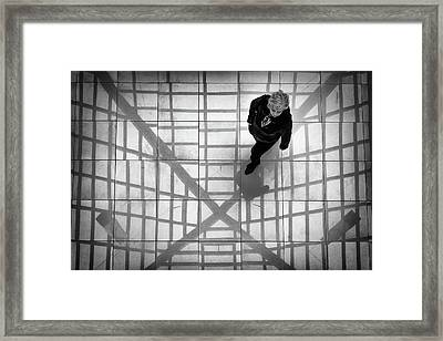 Framed Print featuring the photograph Stepping Into The Web by John Williams