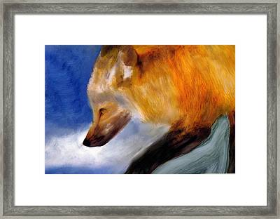 Framed Print featuring the painting Stepping Lightly by FeatherStone Studio Julie A Miller