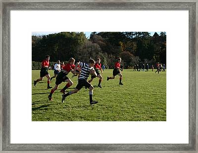 Stepping On The Gas Framed Print