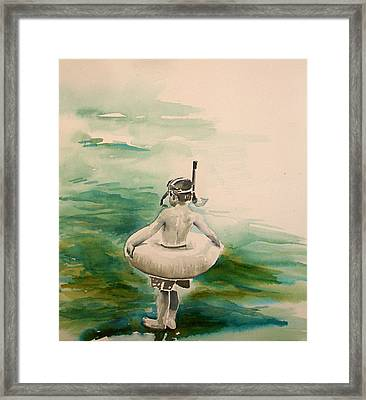 Framed Print featuring the painting Stepping Out by Allison Ashton