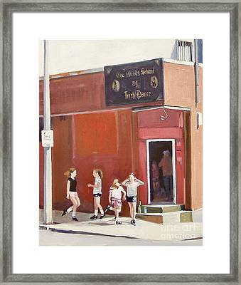 Stepping Out Framed Print by Deb Putnam
