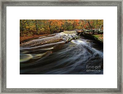 Stepping Stone Falls Framed Print