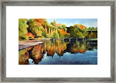 Stepping Stones Bolton Abbey Framed Print