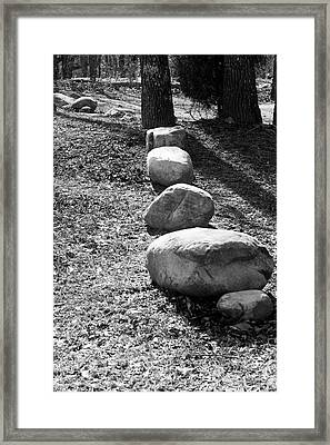 Stepping Stones Framed Print by Gwen Vann-Horn
