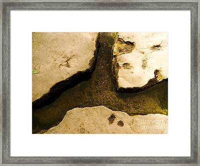 Stepping Stones Framed Print by Jamel Watson