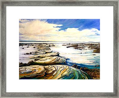 Stepping Stones Framed Print by Karen Elder