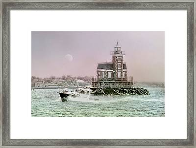 Stepping Stones Lighthouse Framed Print by Diana Angstadt