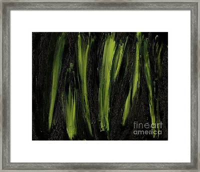 Stepping Through Mens Blades Of Mars Framed Print