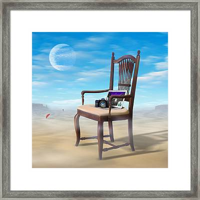 Steppng Back Framed Print