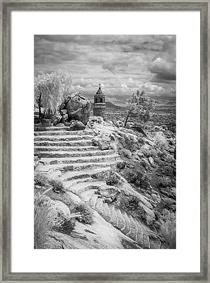 Steps And Peace Tower Framed Print