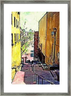 Steps At 187 Street Framed Print by Sarah Loft