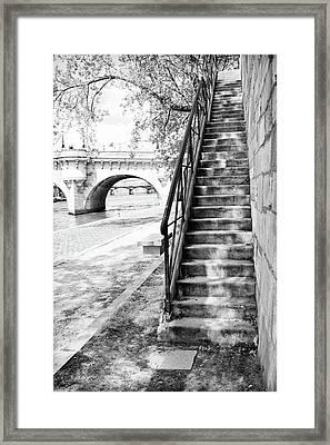 Steps By Pont Neuf, Paris Framed Print