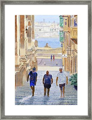 Steps Framed Print by Godwin Cassar
