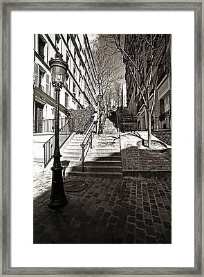 Steps In Montmartre Framed Print by Gerry Walden