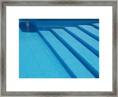Steps In The Pool Framed Print by Michael Canning