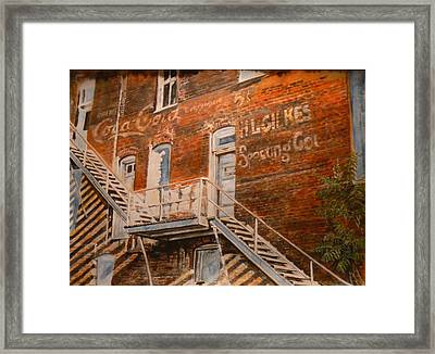 Steps In Time Framed Print by Thomas Akers