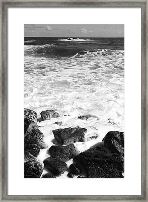 Steps In To The Sea Framed Print by Kerri Ligatich