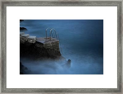 Steps Into Sea Framed Print by Michael Robbins