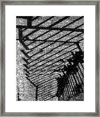 Steps Framed Print by John Bradburn