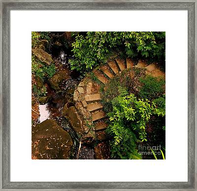 Steps Leading Up The Stairway To Heaven Framed Print