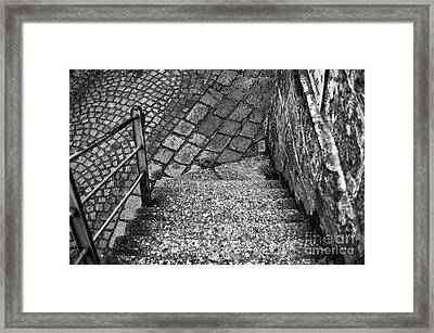 Steps Of History In Salzburg Framed Print by John Rizzuto