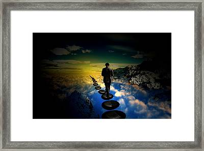 Steps Of Life Framed Print by Wouter Castelein