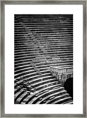 Steps Of Verona Arena  Framed Print