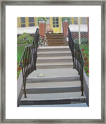 Steps To Recovery Framed Print by Lisa Urankar