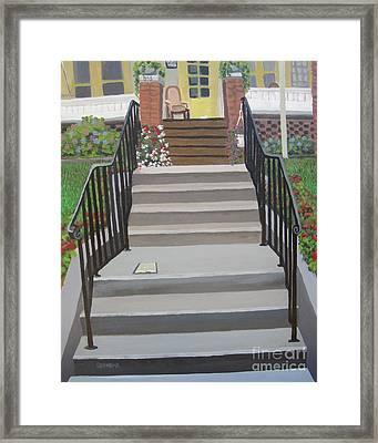 Steps To Recovery Framed Print by Lisa Urankar