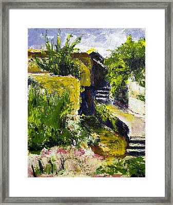 Steps To San Martin Framed Print by Robert Sako