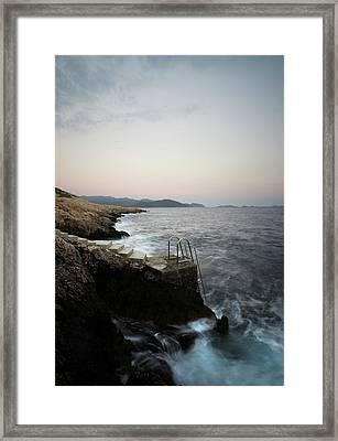 Steps To Sea  Framed Print by Michael Robbins