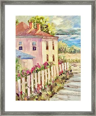 Steps To The Hudson Framed Print