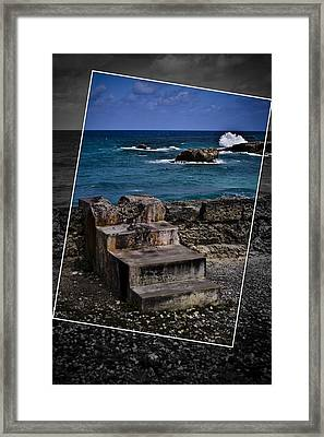 Steps To The Ocean2 Framed Print