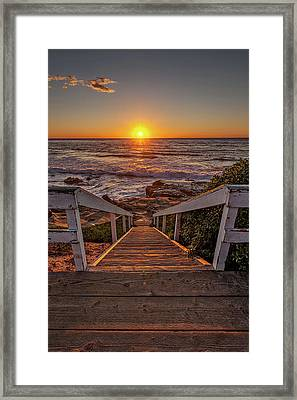 Steps To The Sun  Framed Print