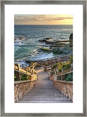 Steps To Treasure Island Beach Framed Print by Eddie Yerkish