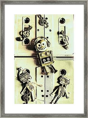 Stereo Robotics Art Framed Print