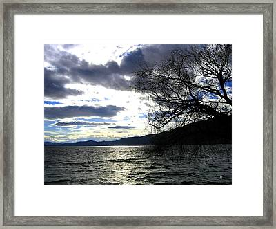 Sterling Silver Sunset Framed Print by Will Borden