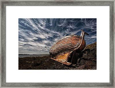 Stern Boat Framed Print by ?orsteinn H. Ingibergsson
