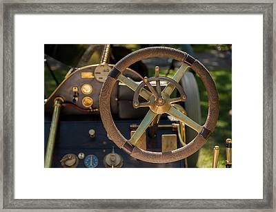 Steering Wheel 1909 Alco Black Beast Framed Print