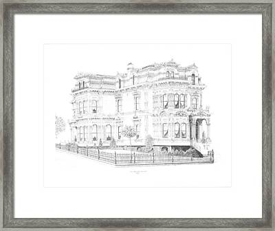 Stetson Mansion Framed Print by Edward Williams