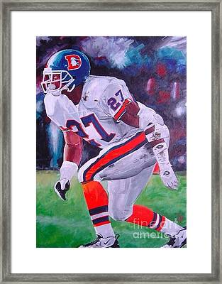 Steve Atwater #1 Framed Print by Ian Jackson