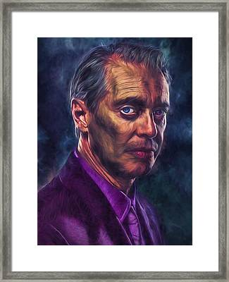 Framed Print featuring the photograph Steve Buscemi Actor Painted by David Haskett