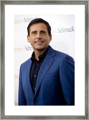 Steve Carell At Arrivals For Dinner For Framed Print by Everett