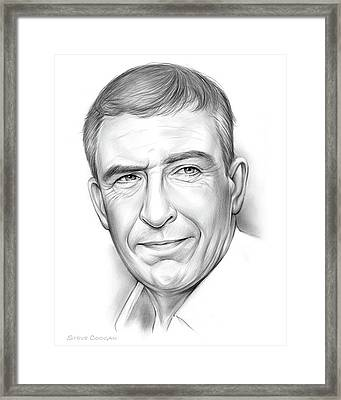Steve Coogan Framed Print by Greg Joens