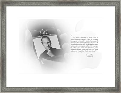 Steve Jobs 2 Framed Print