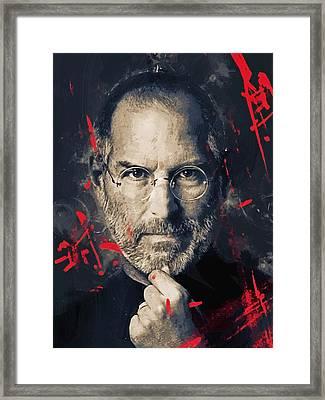 Steve Jobs Framed Print by Afterdarkness