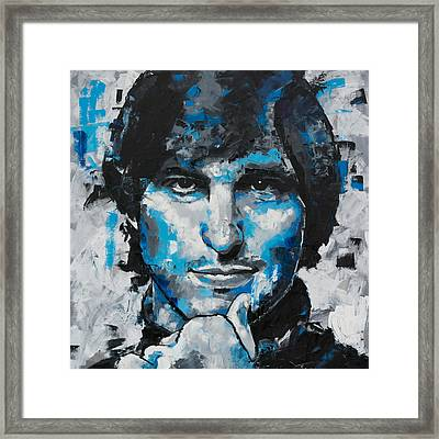 Framed Print featuring the painting Steve Jobs II by Richard Day